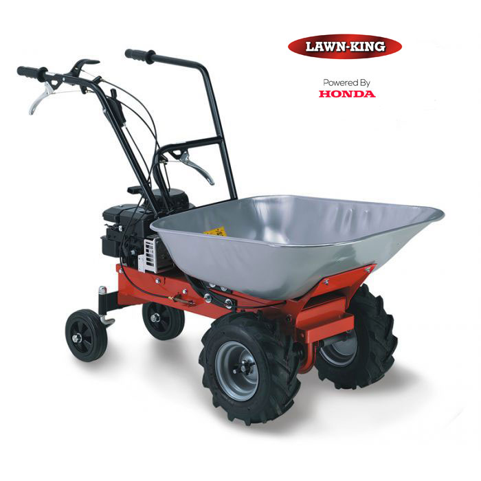 lawn king carry petrol wheelbarrow
