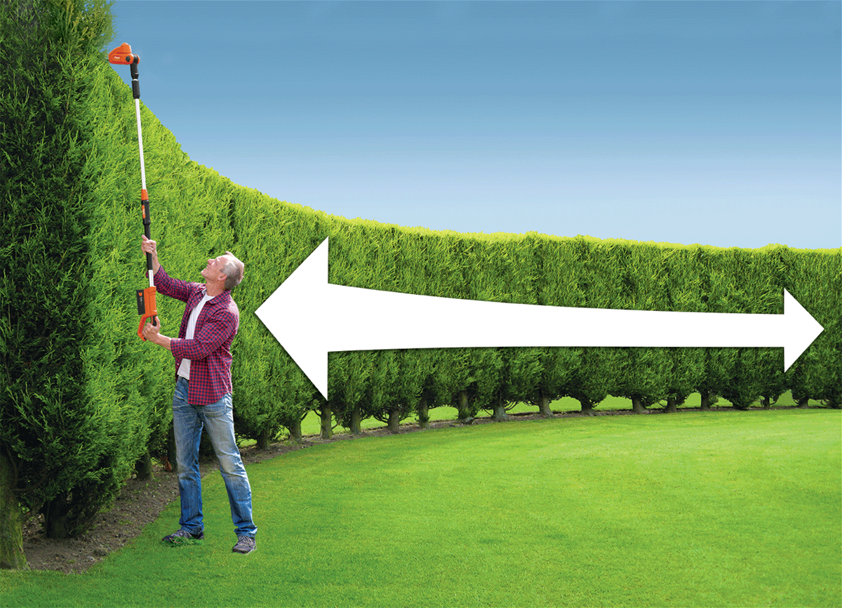 Flymo Sabre Cut Xt 18v Cordless Long Reach Hedge Trimmer