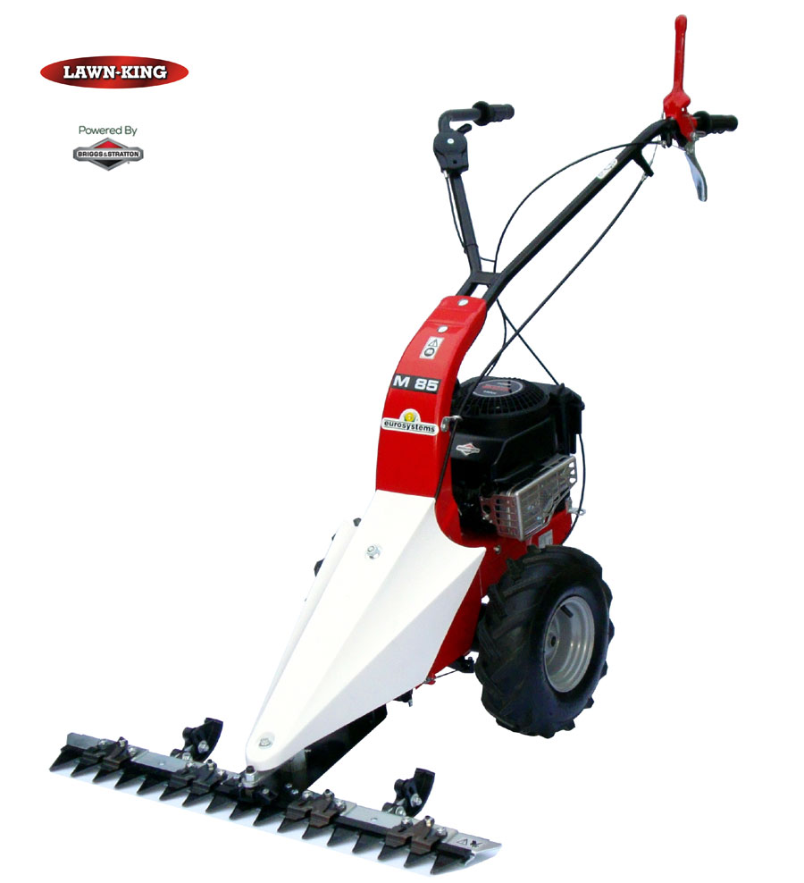 Lawn king m85 scythe sickle bar mower petrol self propelled for Sickle mower for garden tractor