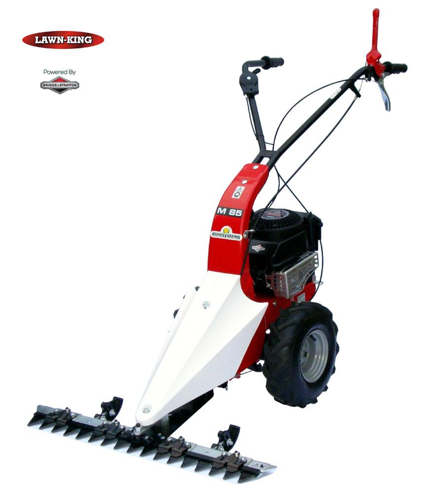 Lawn king m85 scythe sickle bar mower petrol self propelled - Sickle bar mower for garden tractor ...